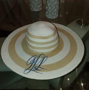 LAUREN Ralph Lauren Packable Striped Sun Hat